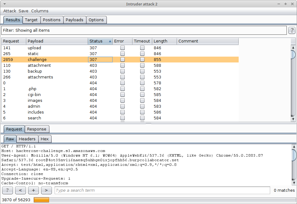 Subdomain discovery with Burp Suite