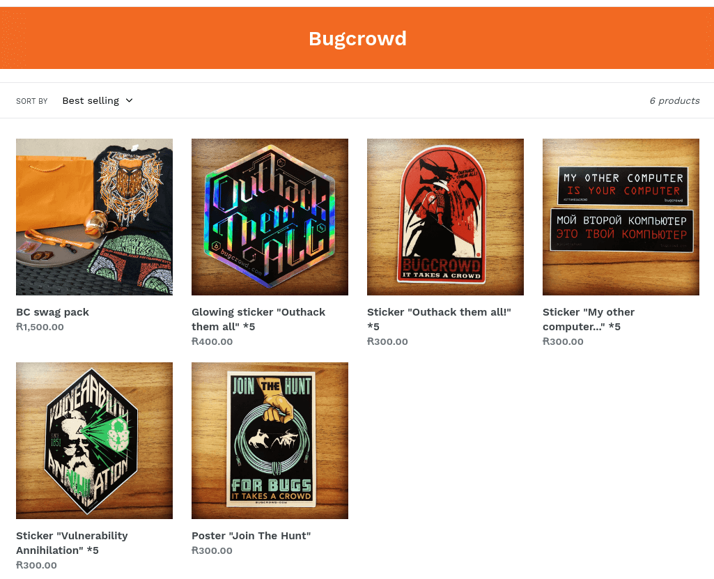swag store bugcrowd